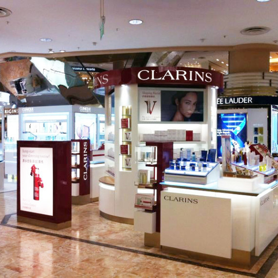 : : RETAIL FIT-OUT : : Clarins Isetan Scotts Singapore