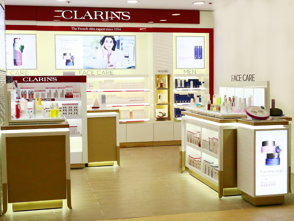 : : RETAIL FIT-OUT : : Clarins Philippines