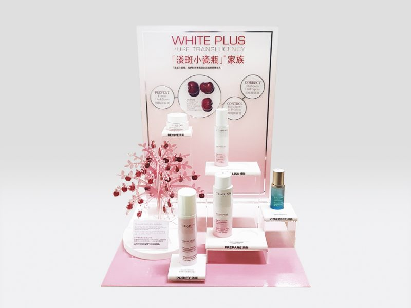 : : PoS SOLUTIONS : : Clarins White Plus Display