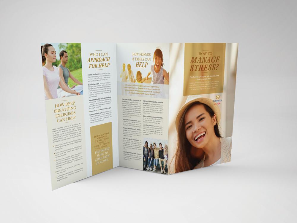 : : MARKETING : : Fullerton Health Stress Management Brochure