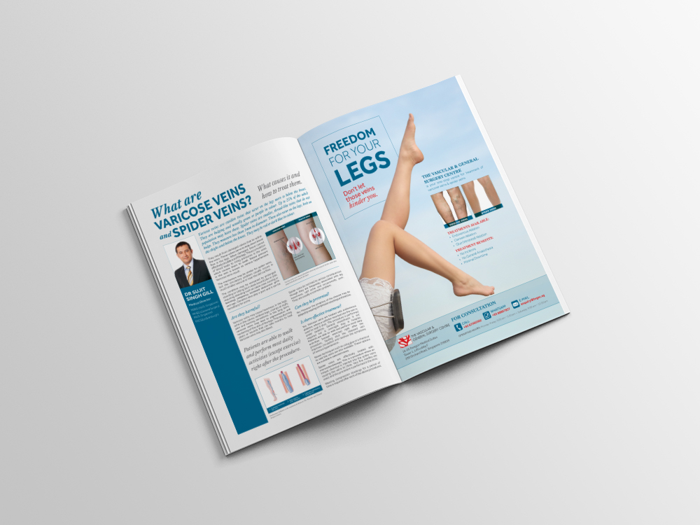 : : ADVERTISING : : The Vascular & General Surgery Centre — SIA Union Magazine Print Ad & Advertorial